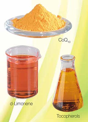 CoQsol-CF Ingredients - CoQ10, d-Limonene, Tocopherols