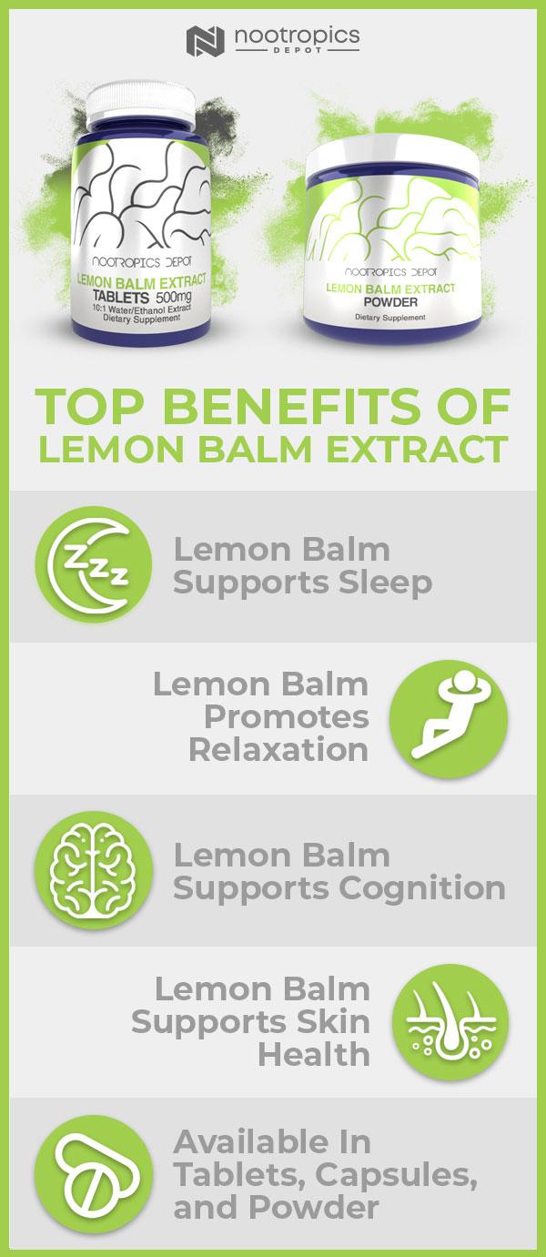 Top Lemon Balm Extract Benefits Infographic